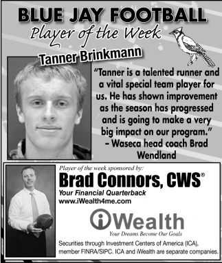 Player of the Week - Tanner Brinkmann, iWealth, Waseca, MN