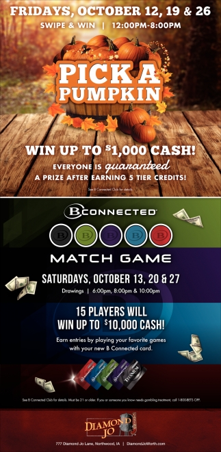 Pick a Pumpkin - Win up to $1,000 Cash