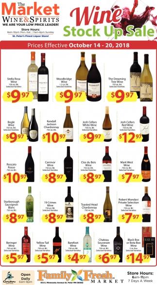 Wine Stock Up Sale