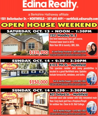 Open House Weekend - Saturday Oct. 13
