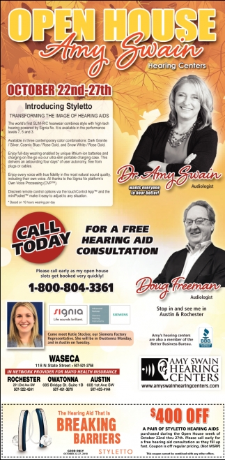 Free hearing aid consultation