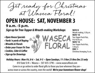 Open House: Sat, November 3