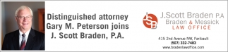 Distinguished Attorney Gary M. Peterson joins