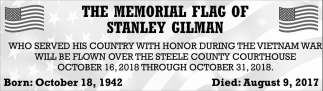 Memorial Flag of Stanley Gilman