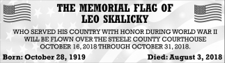 Memorial Flag of Leo Skalicky