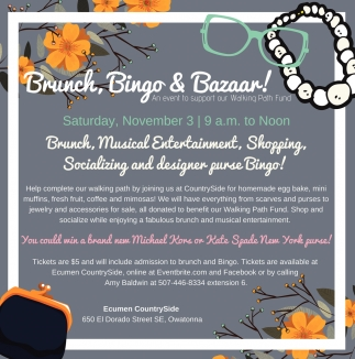 Brunch, Bingo and Bazaar