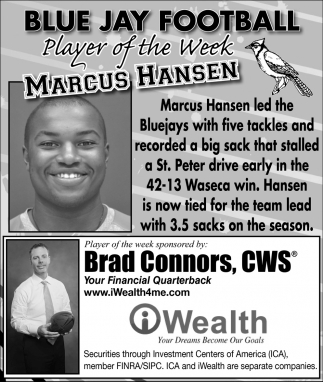 Player of the Week - Marcus Hansen, iWealth, Waseca, MN