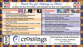 Concerts - Classes, Crossings, Zumbrota, MN