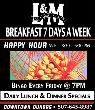 Breakfast 7 days a week