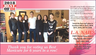 Thank you for voting us Best Manicure