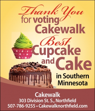 Thank You for voting us Best Cupcake and Cake