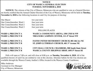 General Election, November 6