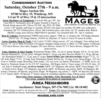 Consigment Auction, October 27th
