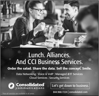 Lunch. Alliances. CCI Business Services, Consolidated Communications, MN