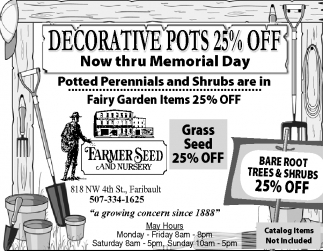 DECORATIVE POTS 25% OFF