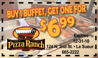 Buy 1 buffet, get one for $6.99