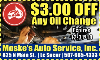 $3.00 Off Any Oil Change