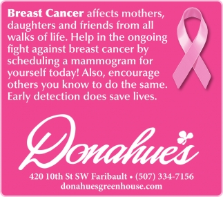 Breast Cancer affects mothers, daughters and friends from all walks of life