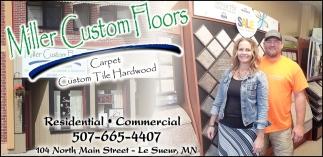 Carpet Custom Tile Hardwood
