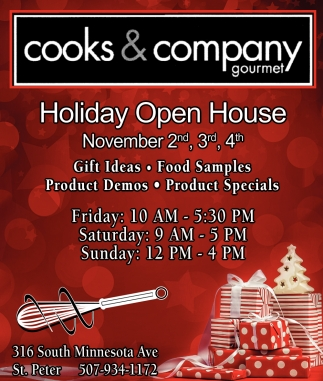 Holiday Open House, November 2nd, 3rd, 4th
