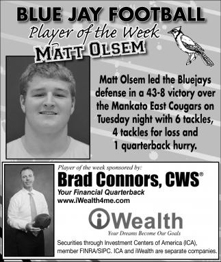 Player of the Week - Matt Olsem