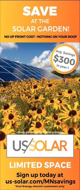 Save at the solar garden!