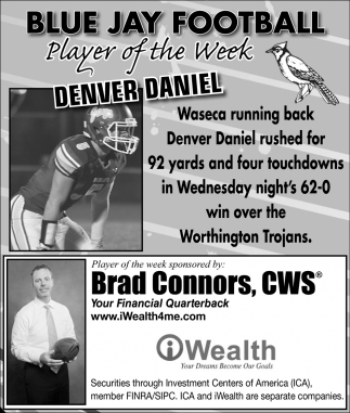 Player of the Week - Denver Daniel, iWealth, Waseca, MN