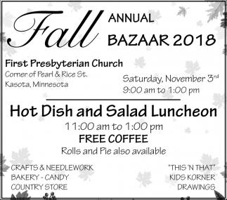 Fall Annual Bazaar 2018