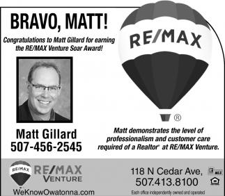 Matt Gillard - Venture Soar Award