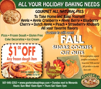 All your holiday baking needs