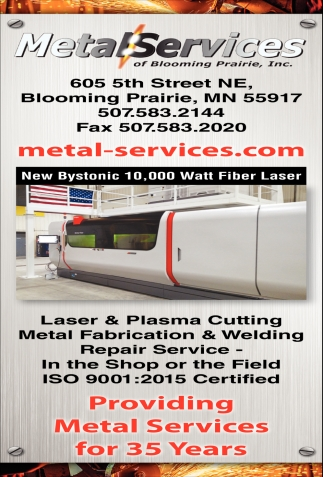 Laser & Plasma Cutting, Metal Fabrication & Welding, Metal Services of Blooming Prairie, Blooming Prairie, MN