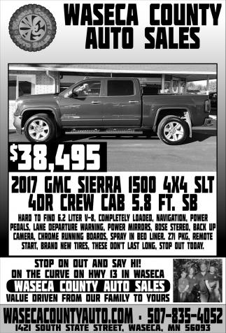 $38,495 2017 GMC Sierra 1500 4x4 SLT