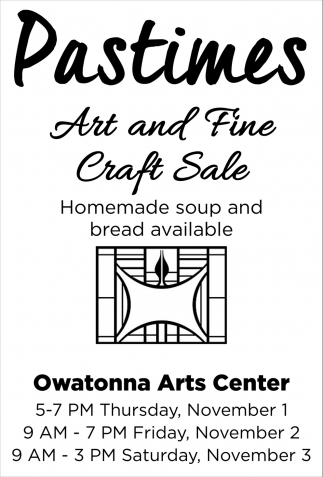 Pastimes - Art and Fine Craft Sale