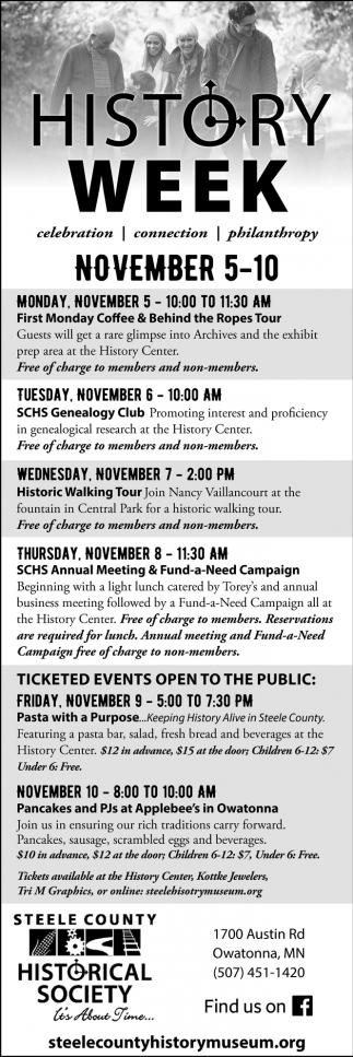 History Week - November 5 -10