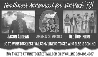 Headliners Announced for Winstock '19!