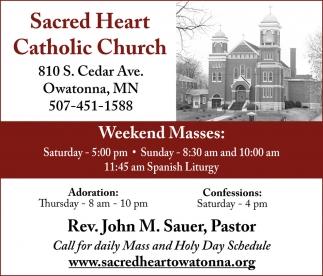 Weekend Masses