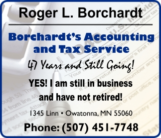 Accounting and Tax Service, Borchardt's Accounting and Tax Service, Owatonna, MN