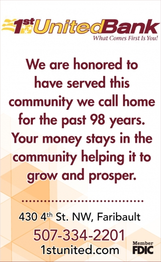 Served this community we call home for the past 98 years