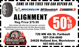 50% off alignment
