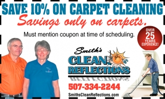 Save 10% on carpet cleaning