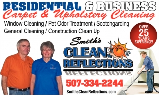 Residential & Business Carpet & Upholstery Cleaning
