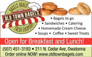 Open for Breakfast and Lunch!