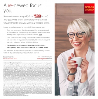 New customers can qualify for a $500 bonus*
