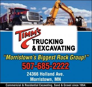 Trucking, excavating & demolition landfill