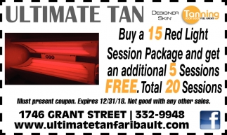 Buy a 15 Red Light Session Package and get an additional 5 sessions