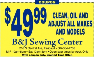 $49.99 clean, oil and adjust all makes and models