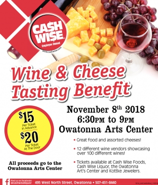 Tasting Benefit, November 8th