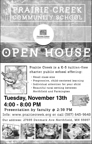 Open House, November 13th