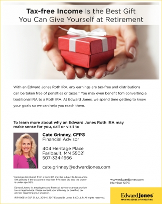 Tax-free Income Is the Best Gift, Edward Jones: Cate Grinney, Faribault, MN
