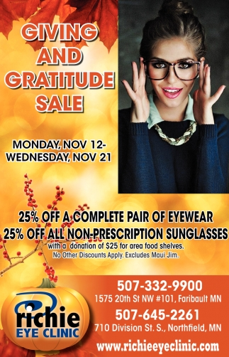 Giving and gratitude sale!